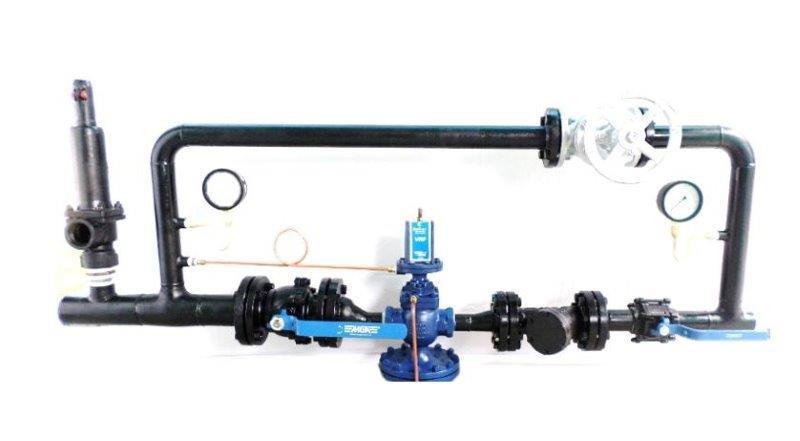 Válvula redutora de pressão com manômetro